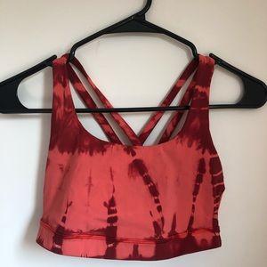 Lulu Lemon Tie Dye Energy Bra Size 4